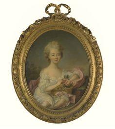 Presumed to be a young Marie-Therese-Louise de Savoy Carignan (1749-1792), later princesse de Lamballe, circa 1750's, studio of Francois Hubert Drouais (1727-1775)