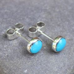 Turquoise stud earrings sterling silver. £20.00