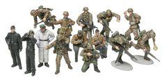 Tamiya 300032514 - 1:48 WWII Figuren-Set Deutsche Panzer Grenadier (15)