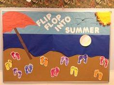 Flip Flop into Summer Bulletin Board Idea