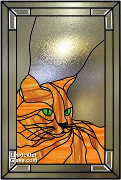 Stained Glass window featuring your pet. Cats and Dogs