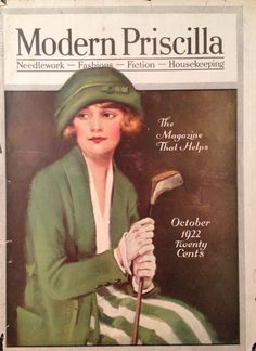 Modern Priscilla Magazine Oct 1922 Lady Golfer Cover