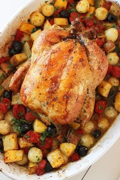 Pesto Roasted Chicken with Potatoes 1