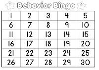 Behavior Bingo...good idea for positive reinforcement in the classroom :)