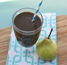 Chocolate Pear and Grape Smoothie for Energy