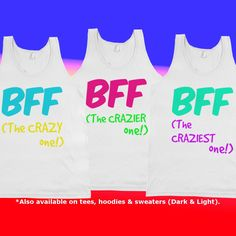 Matching Best Friend Shirts Ready to be Customized
