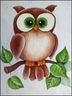 Drawing For Kids, Painting For Kids, Art For Kids, Tole Painting, Fabric Painting, Owl Pictures, Owl Patterns, Owl Art, Cute Owl