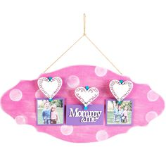 """""""Mommy & me"""" Wood Photo Plaque"""
