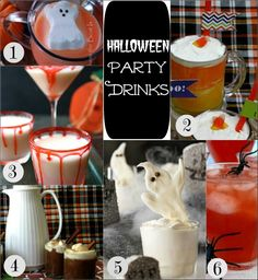 Halloween Party Drinks :: PocketChangeGourmet.com