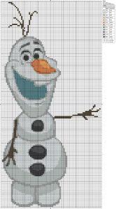 Disney Frozen Olaf cross stitch