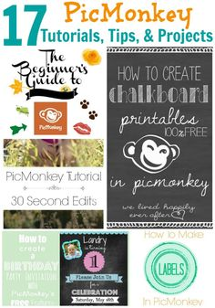 Had no clue PicMonkey could do all this - edit photos, make cards, make blog images, create invitations and more! 17 PicMonkey Tutorials, Tips, and Projects via RainonaTinRoof.com