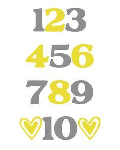 Numbers Digital Nursery Wall Art Decor 8x10 Print by MyPoshDesigns, $16.00