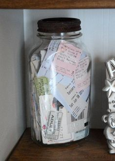 How to decorate your home with the things you love - We have been collecting movie stubs, concert tickets, hotel keys etc in this rusty vintage jar. Concert Ticket Display, Ticket Stubs, Concert Tickets, Vintage Jars, Vintage Room, Travel Wall, Travel Souvenirs, Travel Memories, My New Room