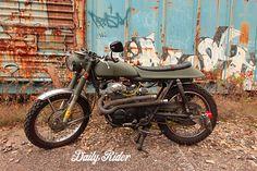"""Zombie Apocalypse"" 1972 CB350 custom build by The Daily Rider http://thedailyrider.com"