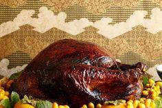 Peking-Style Roast Turkey with Molasses-Soy Glaze and Orange-Ginger Gravy