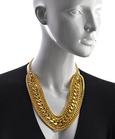 Stronger than you know necklace by Karen London $325 - Personally, I would wear  or think this necklace would look good in the nude with some sexy heels a loose up do (so it will be real easy to take down) and a glass of champagne (but, that's just me).
