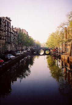 Canal scene - Amsterdam, Netherlands