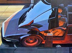 Syd Mead, Traditional Artwork, Retro Futuristic, Visionary Art, Future City, Futurism, Sci Fi Art, Historical Fiction, Concept Cars