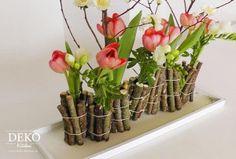 DIY: Ausgefallene Blumendeko mit Holz