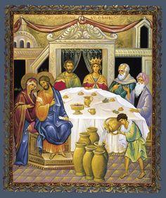 The Wedding at Cana, large icon Religious Icons, Religious Art, Serbian Wedding, Media Icon, Inexpensive Wedding Venues, Eucharist, Light Of Life, Orthodox Icons, Sacred Art