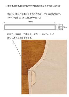 エプロンの無料型紙と作り方 | ヘルカ + ハンドメイド