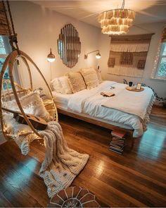 Scandi Living, Style Deco, Boho Room, Aesthetic Bedroom, Dream Decor, Dream Rooms, Cozy House, Room Inspiration, Decoration Inspiration