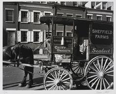 Berenice Abbott, Milk Wagon, 1936.
