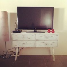 Upcycled Dressing Table turned into a TV unit
