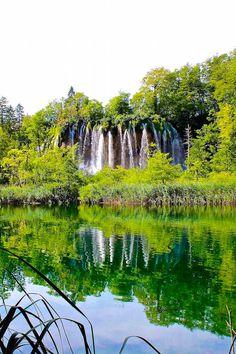 The waterfalls of Plitvice Lakes Croatia - a UNESCO world heritage site.