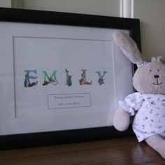 Beatrix Potter Name Print - £19.99 mounted and framed