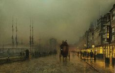 Saturday night, on the clyde at Glasgow - Grimshaw John Atkinson