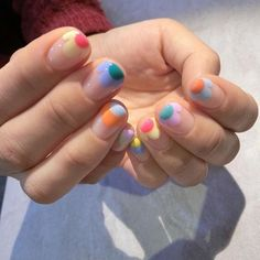 𝒉𝒖𝒏𝒏𝒊𝒆𝒃𝒖𝒎┊✿ˎˊ˗ Funky Nails, Cute Nails, Pretty Nails, Easy Nails, Spring Nail Art, Spring Nails, Summer Nails, Nail Design Glitter, Gel Nails
