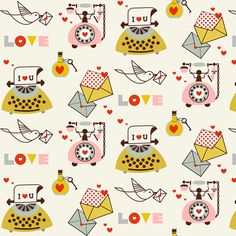 Love fabric by theboutiquestudio on Spoonflower - custom fabric