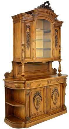 Louis IXV Style Carved Walnut Sideboard