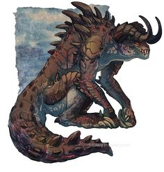 Fallout 4 Deathclaw Alpha by Silverbirch Fallout Art, Fallout Tattoo, Fallout New Vegas, Mythical Creatures Art, Fantasy Creatures, Creature Concept Art, Creature Design, Science Fiction, Fantasy Beasts