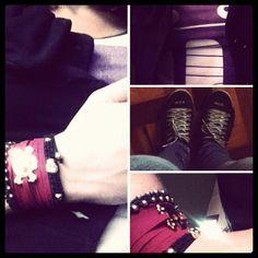 look - pulseiras cor de ideia #pulseirismo #cordeideia