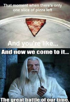 Hungry Gandalf is hungry.