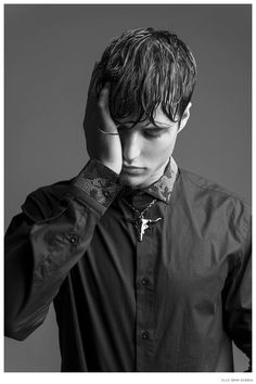 Emilio Flores Embraces Dark Fashions for Elle Man Serbia image Emilio Flores Elle Man Serbia Photo Shoot 002