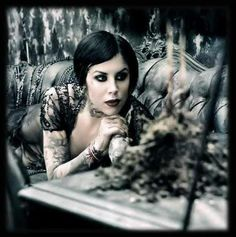 Kat Von D because she lives life on her own terms. She rocks all those tattoos and still looks classy