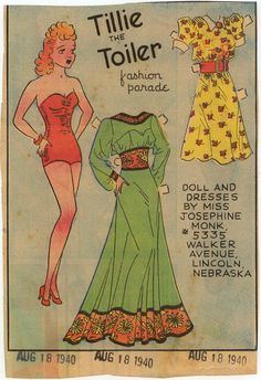TILLIE THE TOILER \/  FASHION PARADE |    August 18, 1940