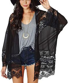 Genluna Woman Sheer Tassel Chiffon Loose Boho Sleeve Cardigan Kimono Blouse Coat [B66159],Medium,Black SUNNOW http://www.amazon.com/dp/B00W4VGWCI/ref=cm_sw_r_pi_dp_MV0Bvb1NA9388