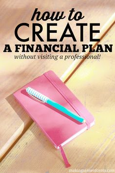 "A financial plan is important, but very few of us have one. It's because we think that we need to meet with a financial planner to get one and who has the time or the money to pay someone for a ""plan?"""