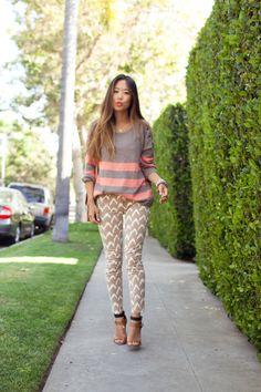 Song of Style | Page 57 Very.com Striped Blazer, Levi's Stripe Shirt, J Brand Shorts, Alexander Wang Heels