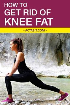 The best exercise to get rid of knee fat. Add the five proven exercises to your workout and lose fat on the sides of your knees fast. How To Slim Down, How To Get Rid, Knee Fat Exercises, Stomach Exercises, Stretches, Skin Bumps, Fitness Motivation, Workout Motivation Pictures, Start Losing Weight