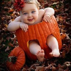 I've got to remember to do this, this year!! Baby in a Pumpkin ♥ :)