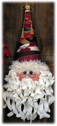 Santa Clause Wreath -L'amore e vita( Waiting Christmas) Christmas Crafts To Make, Santa Crafts, Christmas Makes, Winter Christmas, Holiday Crafts, Christmas Holidays, Christmas Wreaths, Christmas Decorations, Christmas Ornaments