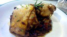 Receta de pollo en salsa - Pollo en salsa de manzana y jamon - Fricassea de pollo - Chicken with apple and ham. italian food, italian recipes, comida italiana, cocina italiana