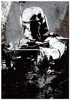 Star Wars tout noir Darth Vader Stormtrooper et par Posterinspired