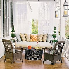 Gorgeous porch furnishings