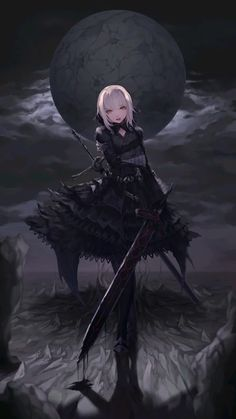 Répertoire Image Fantasy - Page 47 Dark Anime Girl, Anime Art Girl, Anime Girls, Gothic Anime Girl, Dark Fantasy Art, Dark Art, Art Manga, Manga Anime, Art Anime Fille